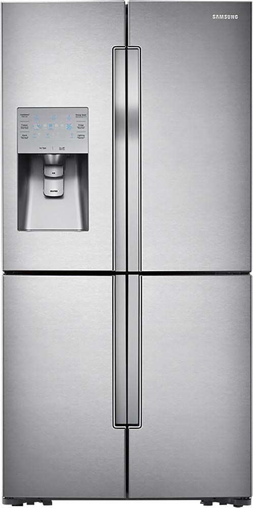 Samsung - 31.7 Cu. Ft. 4-Door French Door Refrigerator with Convertible Zone - Stainless-Steel