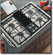 "GE - Profile 30"" Modular Three Configuration Option Gas Cooktop - Stainless-Steel"