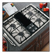 """GE - Profile 30"""" Modular Three Configuration Option Gas Cooktop - Stainless-Steel"""