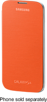 Samsung - Flip-Cover Case for Samsung Galaxy S 4 Mobile Phones - Orange