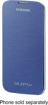 Samsung - Flip-Cover Case for Samsung Galaxy S 4 Mobile Phones - Blue