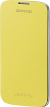 Samsung - Flip-Cover Case for Samsung Galaxy S 4 Mobile Phones - Yellow