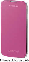 Samsung - Flip-cover Case For Samsung Galaxy S 4 Mobile Phones - Pink