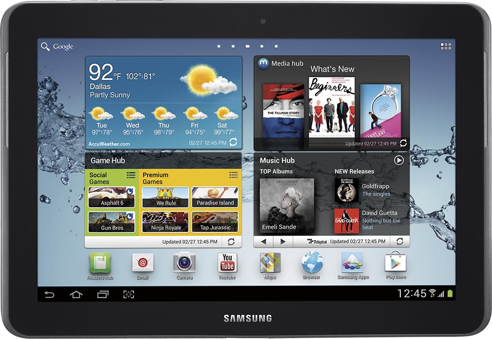 Samsung - Galaxy Tab 2 10.1 - Wi-Fi + 4G LTE - 16GB (AT&T) - Gray