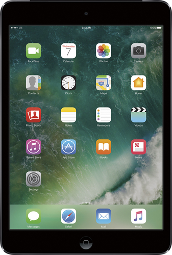 Apple - iPad® mini 2 with Wi-Fi + Cellular - 16GB - (Verizon Wireless) - Space Gray