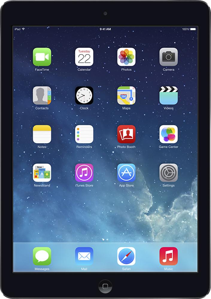 Apple - Ipad Air With Wi-fi + Cellular - 64gb - (verizon Wireless) - Space Gray/black