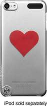 Incase - Snap Case for Apple® iPod® touch 5th Generation - Clear/Red