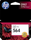 HP - 564 Photo Black Vivera Original Ink Cartridge - Black