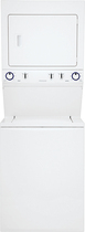 Frigidaire - 3.0 Cu. Ft. 8-Cycle Washer and 5.5 Cu. Ft. 8-Cycle Dryer Gas Laundry Center - Classic White