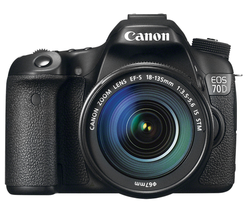 Canon - EOS 70D DSLR Camera with 18-135mm IS STM Lens - Black