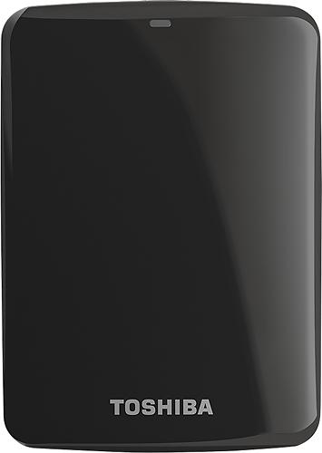 Toshiba - Canvio Connect 1TB External USB 3.0/2.0 Portable Hard Drive - Black