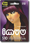 IMVU Virtual Currency Card ($10)