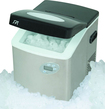 "SPT - 15"" 35-Lb. Freestanding Icemaker - Stainless-Steel/Black"