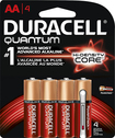 Duracell - Quantum AA Batteries (4-Pack) - Red