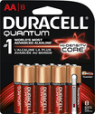 Duracell - Quantum AA Batteries (8-Pack) - Red