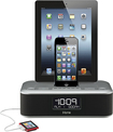 iHome - Triple Charging Stereo FM Clock Radio - Black/Silver