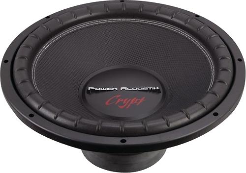 """Power Acoustik - Crypt Series 15"""" Dual-Voice-Coil 4-Ohm Subwoofer - Black"""