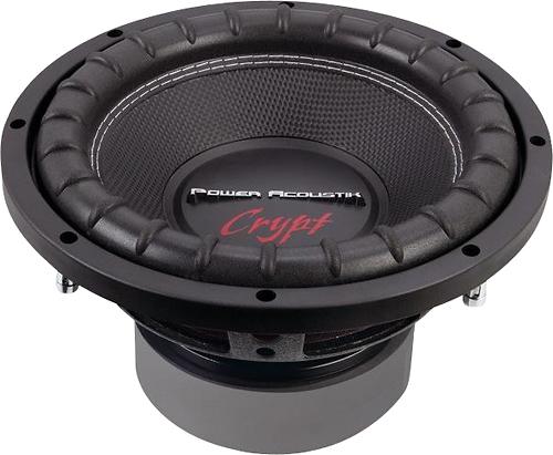 """Power Acoustik - Crypt Series 10"""" Dual-Voice-Coil 4-Ohm Subwoofer - Black"""