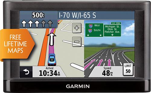 "Garmin - nüvi 44LM 4.3"" GPS with Lifetime Map Updates - Black"