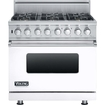 Viking - Professional 5 Series 5.6 Cu. Ft. Self-cleaning Freestanding Dual Fuel Convection Range - White