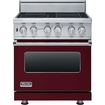 "Viking Professional - 30""w. Visc Electric Induction Range - Burgundy"