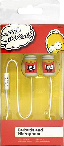 Tribeca - The Simpsons Duff Beer Can Earbud Headphones - Brown