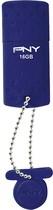 PNY - Rugged 16GB USB 2.0 Flash Drive - Blue