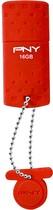 PNY - Rugged 16GB USB 2.0 Flash Drive - Red