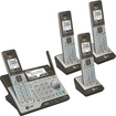 AT&T - CLP99483 Connect to Cell DECT 6.0 Expandable Phone System with Digital Answering System - Black/Gray