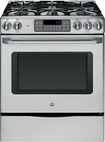 "GE - Café 30"" Self-Cleaning Freestanding Gas Convection Range - Stainless-Steel"