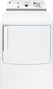 GE - 7.8 Cu. Ft. 11-Cycle Electric Dryer - White-on-White
