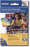 "Brother - Innobella 20-Pack 4"" x 6"" Premium Glossy Photo Paper - White"