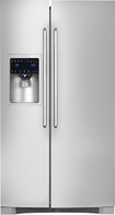 Electrolux - 22.7 Cu. Ft. Frost-Free Counter-Depth Side-By-Side Refrigerator with Thru-the-Door Ice and Water - Stainless-Steel