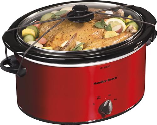 Hamilton Beach - 5-Quart Portable Slow Cooker - Red