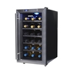 NewAir - 18-Bottle Wine Cooler - Black/Stainless-Steel