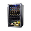 NewAir - 33-Bottle Wine Cooler - Stainless-Steel/Black