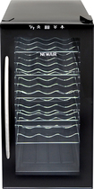 NewAir - 18-Bottle Wine Cooler - Black/Chrome