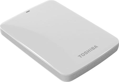 Toshiba - Canvio Connect 500GB External USB 3.0 Hard Drive - White
