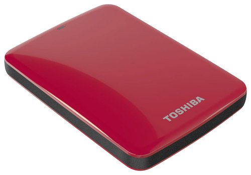 Toshiba - Canvio Connect 2TB External USB 3.0 Hard Drive - Red
