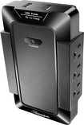 Rocketfish™ - 6-Outlet 2-USB-Port Surge Protector