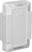 Dynex™ Direct - 6-Outlet, 3-USB-Port Power Hub