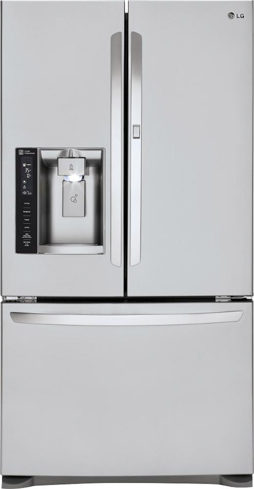 LG - Door-in-Door 23.9 Cu. Ft. French Door Refrigerator with Thru-the-Door Ice and Water - Stainless-Steel
