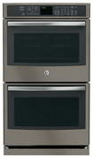 "GE - Profile Series 30"" Built-In Double Electric Convection Wall Oven - Slate"