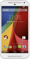 Motorola - Moto G (2nd Generation) Cell Phone (Unlocked) (U.S. Version) - White