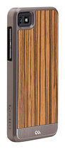 Case-Mate - Crafted Woods Collection Case for BlackBerry Z10 Cell Phones - Zebrawood/Silver