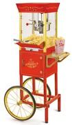 Nostalgia Electrics - Vintage Collection Popcorn Cart - Red