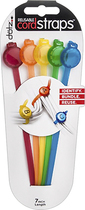 Dotz - Reusable Cord Straps (5-Count) - Red/Orange/Yellow/Blue/Green
