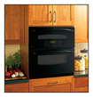 "GE - Profile 30"" Built-In Double Electric Convection Wall Oven - Black"