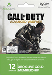 Microsoft - Xbox Live 12 Month Gold Membership - Call of Duty: Advanced Warfare