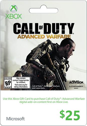 Microsoft - $25 Xbox Gift Card - Gray